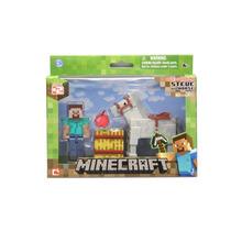 Minecraft Mini Figuras Steve And Horse - Estoque No Brasil