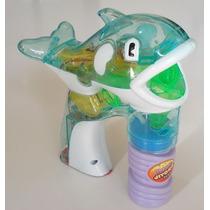 Peixinho Bolinhas De Sabão Led Bubbles Gun Infantil