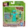 Minecraft Boneco Figura Steve Diamond - Estoque No Brasil