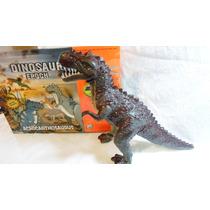 Dinossauro Eletônico 3d Anda, Acende Olhos, Mexe Boca 30cm
