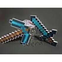 Kit Com Espada E Picareta Minecraft Com 19mm De Espessura