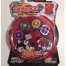 Kit 4 Beyblades Metal+grip Launcher C/ Laser + Brinde