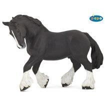 Cavalo De Brinquedo - Preto Shire Pátio Figura Modelo Animal