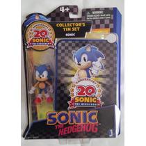 Boneco Sonic The Hedgehog 20th Anniversary Licenciado Sega