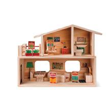 Casa Família Brinquedo De Madeira Kitopeq