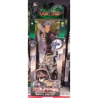 Boneco Soldado Soldadinho Militar Com Roupa Do Exército 30cm
