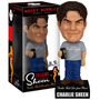 Boneco - Funko Talking Wacky Wobbler - Charlie Sheen