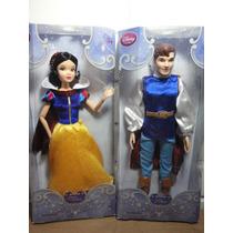 Branca De Neve E Príncipe Bonecos Disney Originais 30 Cm