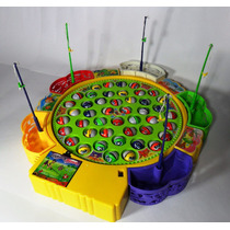 Jogo De Pescaria Eletônico Com 45 Peixes E 5 Varas P/ Pescar
