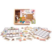 Brinquedo Pedagogico Bingo De Letras - Alfabetização