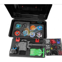 Kit 8 Beyblade + 2 Lançador + Carrier Bb52 + 25pç+ A Compass