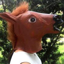 Máscara De Halloween Cabeça De Cavalo Engraçada