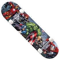 Skate Infantil Avengers Marvel Com Acessórios De Segurança