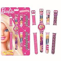 Relógio Troca Pulseiras Barbie Infantil 5 Funções Menina Fun