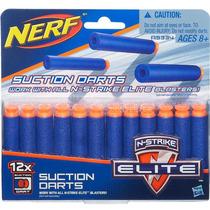 Refil Nerf N-strike 12 Dardos Sucção Hasbro