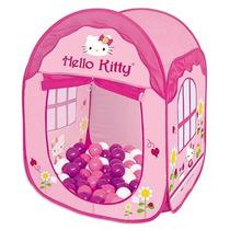 Toca House Hello Kitty C/ Bolinhas Barraca Infantil Braskit