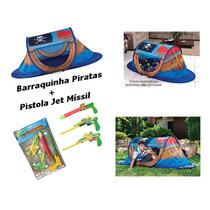Barraquinha Infantil Pirata Mor + Pistola Jet Míssil C Avião