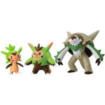 3 Bonecos Pokemon Chespin, Quillad E Chesnaught