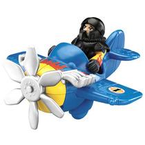 Imaginext Mini Aviões Sky Racers Avião Azul X1555 X0907