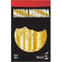 Mágica Moeda Mordida 25 Centavos Dourada Com Frete Gratis