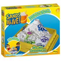 Brinquedo Infantil Sands Alive Caixa Dinossauros Yellow