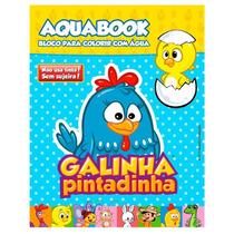 Caderno Para Colorir Galinha Pintadinha Aqua Book Br179