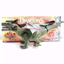 Dinossauro Dragão Eletronico 3d Led Anda Asa Sozinho Faz Som