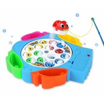 Brinquedo Pega Peixe Rotativo Musical Jogo Educativo