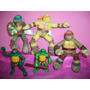Coleção Tartarugas Ninja Mcdonald´s De Pelucia E Vinil Usado