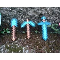 Ferramentas Minecraft Diamante, Ferro, Ouro, Espada Picareta