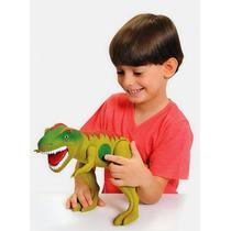 Dinossauro Eletronico Jurassic Tirano Rex Com Som