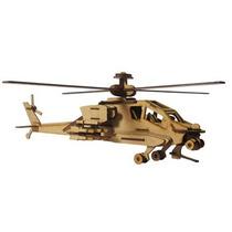 Brinquedo De Montar - Quebra-cabeça 3d - Helicóptero Apache