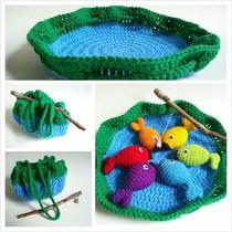 Brinquedo Jogo De Pesca Peixe De Croche