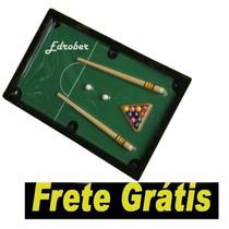 Mini Jogo Bilhar Mesa Sinuca Bola Taco Snooker Brinquedo