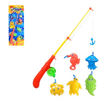 Pega Peixe - Com Vara E 5 Animais Marinhos