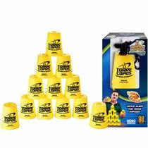 Jogo Torre Copos Pro Amarelo