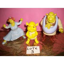 Coleção Mc Donald´s Shrek E Fiona Mais O Bebe Bonecos Usado