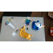 5 Brinquedos Mc Donalds - Hora De Aventura Finn,rei Gelado..