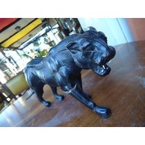 Jaguar Tigre Pantera Antiga Pequena Papel Machê, Com Defeito