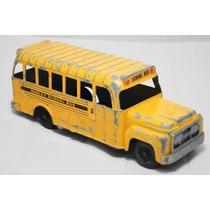 Antigo Ônibus Escolar De Lata Marca Hubley 23,5 Cm Comp.