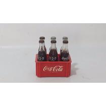 Antigo Engradado De Mini Garrafas De Coca Cola Anos 80/90.