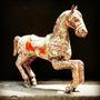 Cavalo De Carrossel De Metal Antigo