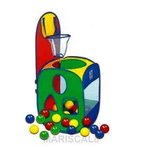 Jogo De Basquete Basket Ball Cesta + 60 Bolinhas Brinquedo