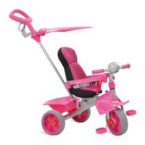 Triciclo Smart Comfort Carrinho Bebe Passeio Rosa Bandeirant