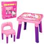 Hello Kitty Mesa Com Cadeira Conjunto Mesa E Cadeirinha