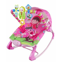 Cadeira De Balanço Bebê Descanso Musical Rocker Rosa