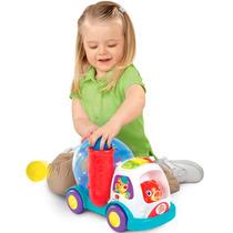 Brinquedo Infantil Caminhão Empurra Atira Pula Bola Bright