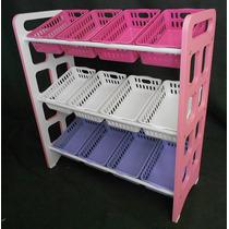 Prateleira Organizadora Brinquedos Bau Cestos Colorido Linda