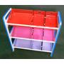 Estante Organizadora De Brinquedos Em Mdf E Cestos Coloridas