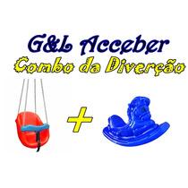Gangorra Cavalinho + Balanço Bebê / Combo Da Diverção